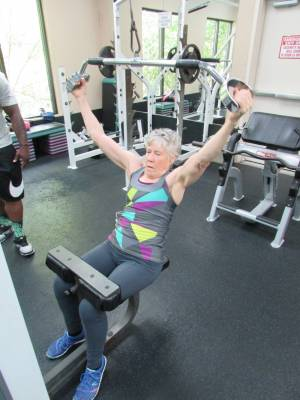 Bonnie Working Out photo
