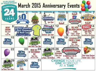 March 2015 Club Julian events image